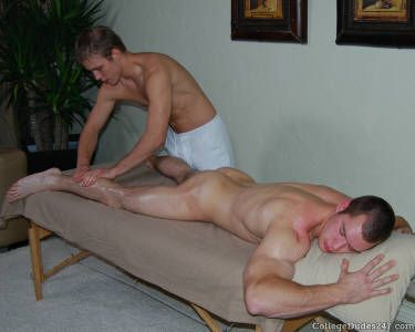 Pics of naked guys being massaged by naked guys
